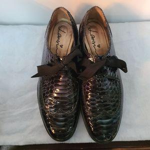 Lanvin Snake Skin Loafers